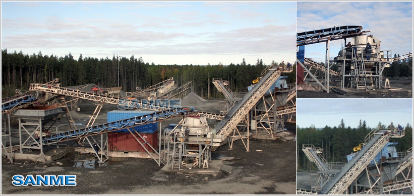 Diabase Aggregates production Line in Russia
