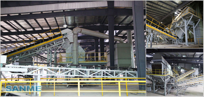 250TPH Stationary Construction Waste Disposal Production Line