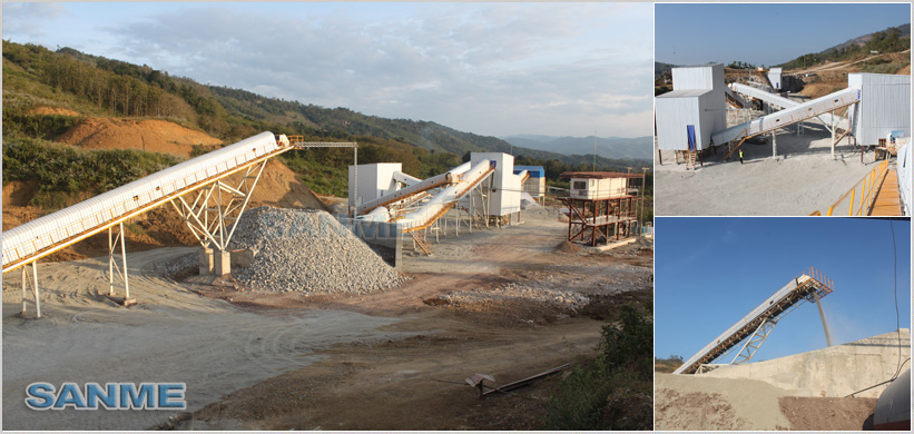 Laos 230t/h limestone production line